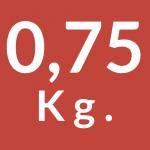 0,75 Kg.
