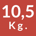 10,5 kg.