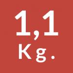 1,1 Kg.