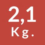 2,1 Kg.