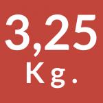 3,25 Kg.