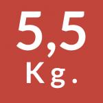 5,5 Kg.