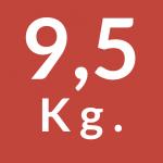 9,5 Kg.